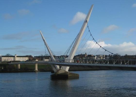 Peace Bridge Derry Northern Ireland