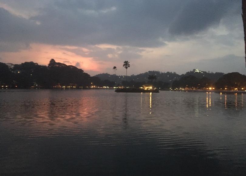 Lake in Kandy at sunset, Sri Lanka