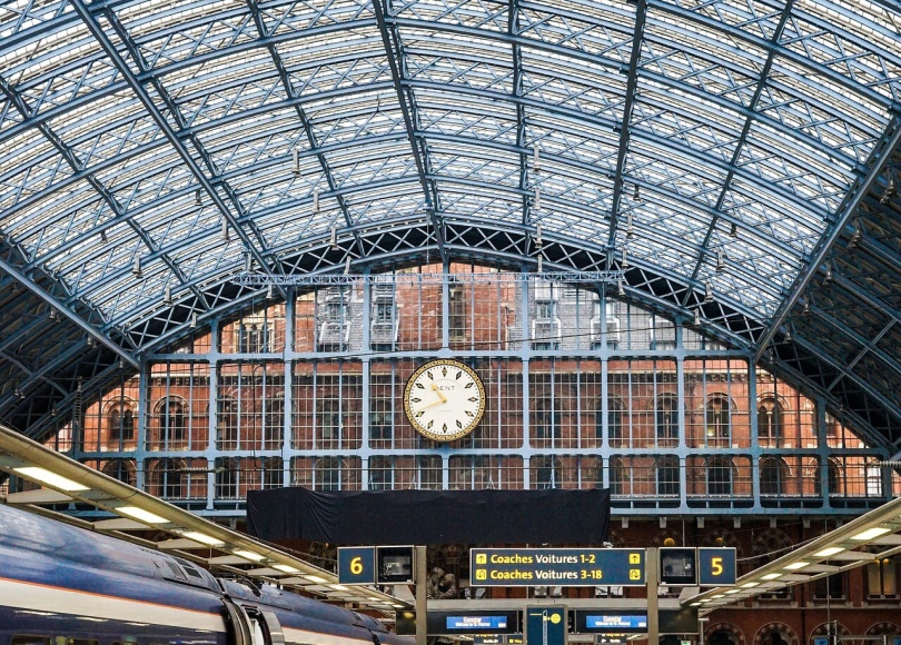 Eurostar platform at St Pancras in London
