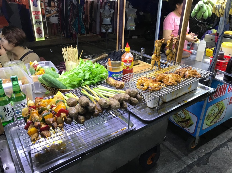 street food stall in Hoi An, Central Vietnam