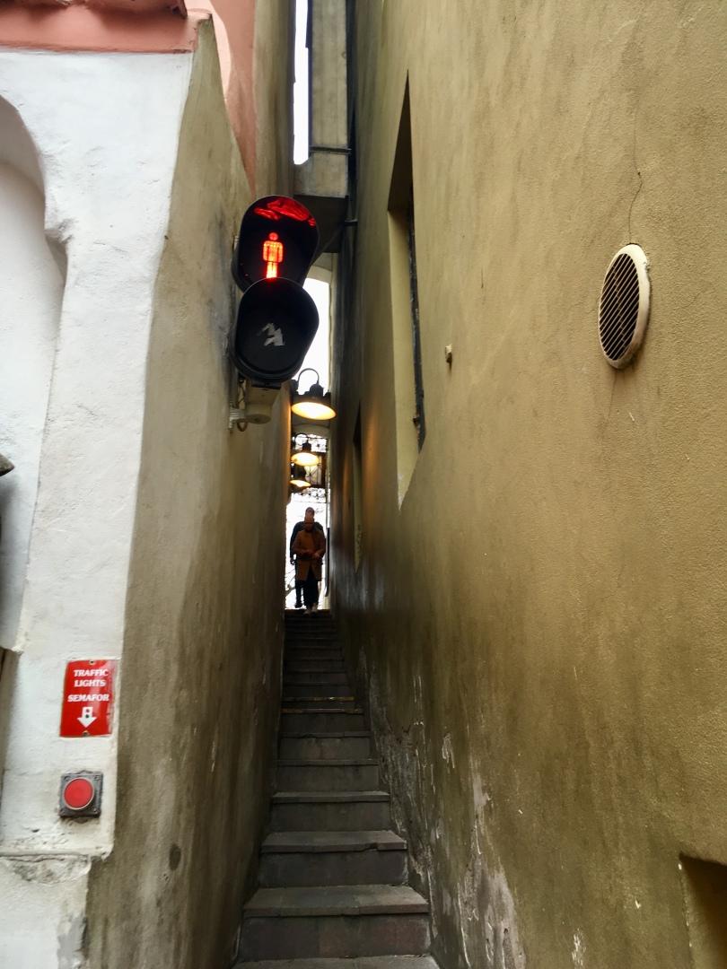 Narrowest street Prague Czech Republic