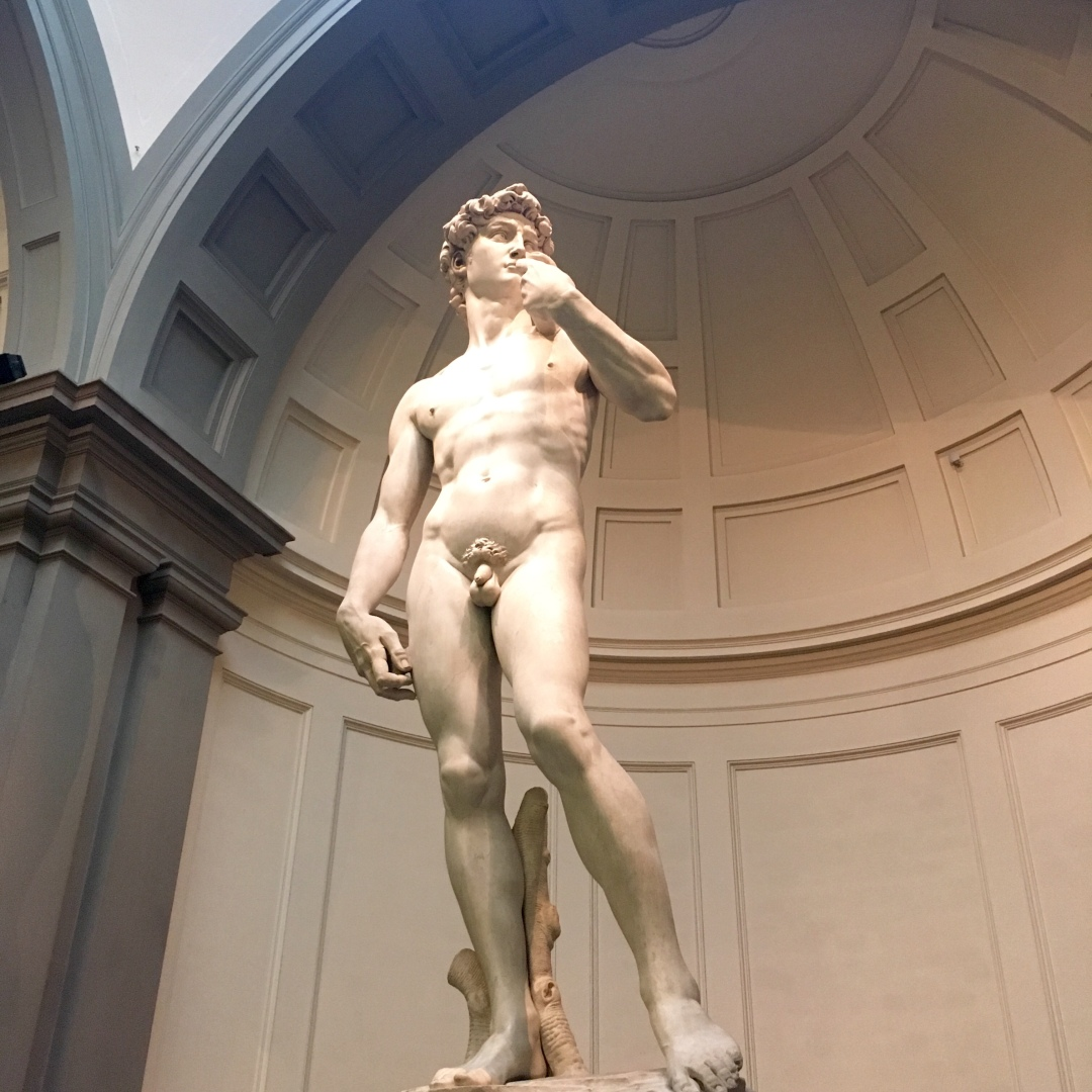 Statue of Michelangelo's David in Florence
