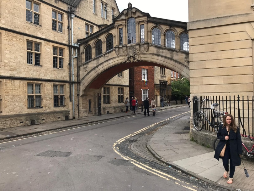 Oxford's Bridge of Sighs, a skyway connecting two parts of Hertford College at Oxford University