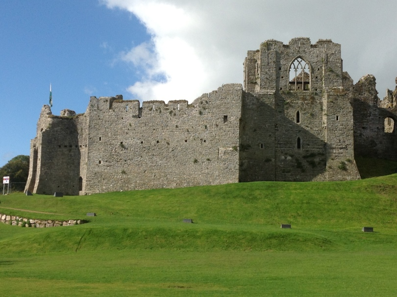 Oystermouth Castle located in Mumbles near Swansea Wales